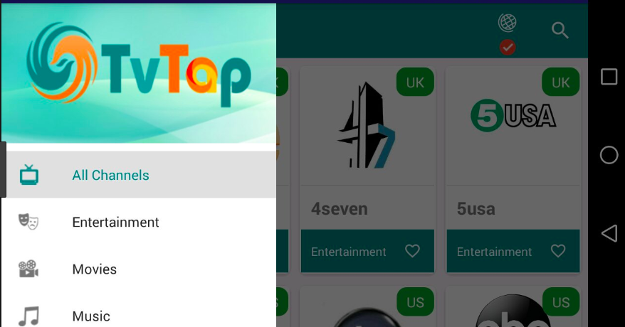 TVTAP on Smart Tv & Android Box Updated