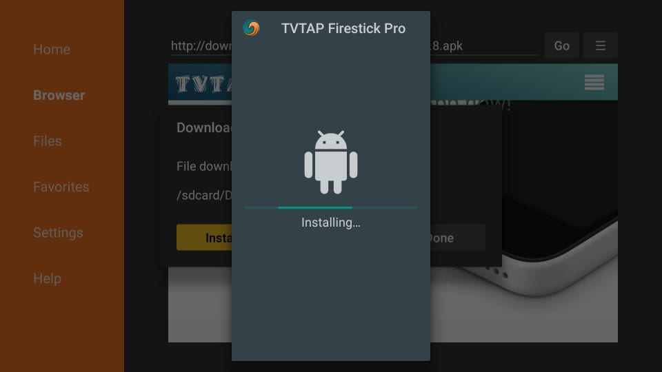 TvTaP Installed on your device
