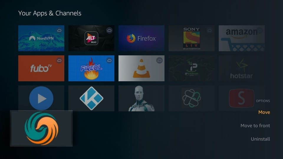 icon on All Apps and Channels