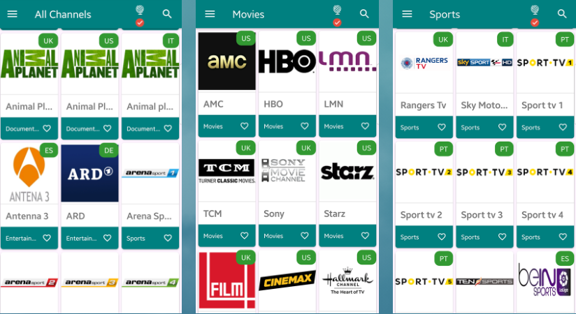 TVTap App Interface